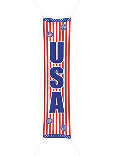 Uitbreiding van de straat * Banner USA / Amerika * // Folat grootte: 60 x 300 cm // kinderverjaardag kinderverjaardag party verjaardag decoratie deurspion Amerika vlaggen staven en sterren