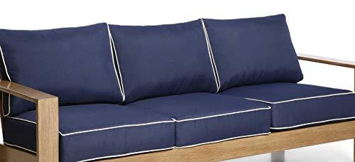 Creative Living Patio Sofa Cushions Blue-3Cushion Deep Seat Cushion & Pillow for Outdoor Furniture, Blue