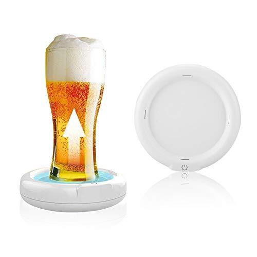 Tonysa Bieraufschäumer, Ultraschall Bier Sprudler Foamer, 3.7V 110KHZ Bier Schaum Hersteller für Familienfeiern/Geschäftstreffen/Bars usw. mit 1800mah Lithiumbatterie