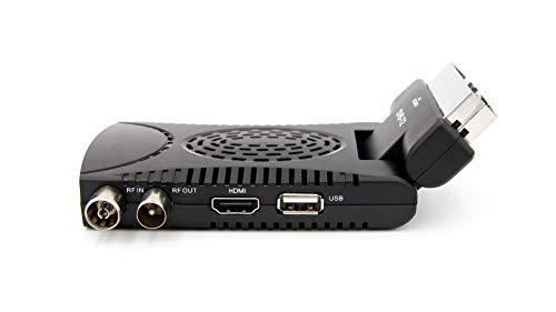 Decoder Mini Digitale Terrestre Scart DVB-T2 180° USB HDMI Full HD, H265 HEVC 10 Bit IPTV Ricevitore