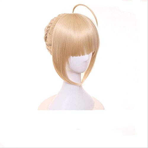 MSSJ Alter Saber Cosplay Fate Stay Night Disfraz Anime Arturia Saber Mujeres Cosplay Zero Fate Avallon Celebration Costume One Size Peluca