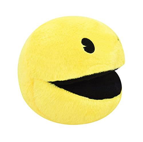 agzhu Lindo muñeco de Peluche Amarillo Sonriente Cara expresión Bola Pacman Juguete de Peluche para niños bebé cumpleaños 16Cm