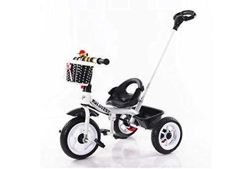 BDW Schwarz/Weiß Laufrad für Kinder, 2 bis 5 Jahre, 2w1 Pedale, Dreirad, Kinder Laufrad fürs Gleichgewicht, mit höhenverstellbarem Sattel und Lenker, Fahrradklingel || KOSTELNOS Versand ||