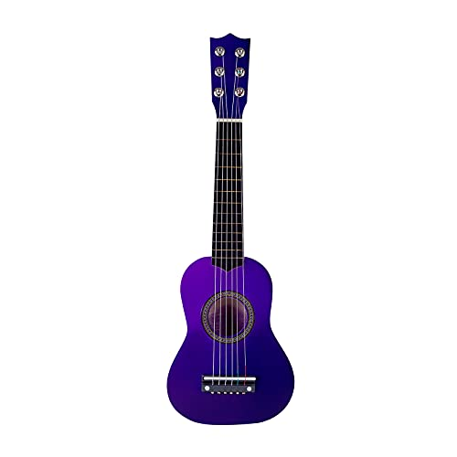 Electric Guitar 21 Inches Children Beginner Wooden Guitar 6 Strings Musical Instruments Toys For Children Educational ToysBeginner For PlaySturdy