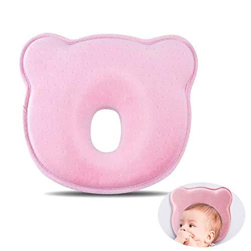 Kissen Säugling Neugeborene,babykissen gegen plattkopf,Kleines Babykopfkissen,Baby Memory Schaum Kissen,Baby Kissen Weich, rutschfest feng