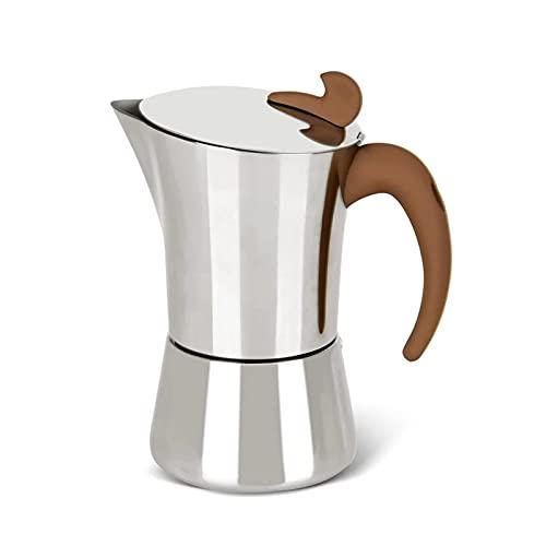Espresso Cup Moka Pot Piec Ze Stali Nierdzewnej Ekspres Do Kawy Latte Mocha Ekspres Do Kawy Nadaje Się Do Domowego Biura Gazowego I Indukcyjnego Ekspresu Do Kawy (Kolor: Srebrny, Rozmiar: 360 Ml)