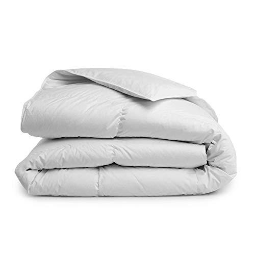 Brooklinen Down Alternative Comforter – 100 Percent Hypoallergenic – 400 Thread Count Cotton Sateen Shell with Baffle Box Construction – Vegan & Allergy Friendly – Lightweight Warmth – Full/Queen