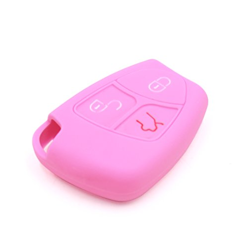 sourcing map Voiture Silicone Rose Commande Housse pour AMG C B E Classe