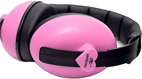 BDRSLX Orejeras insonorizadas Professional Anti-ruido Interferencia Dormir Estudiante MUTE MUTE DE RUIDO Industriales Reducción Cómodo para dormir Auriculares cómodos (Color: Rosa, Tamaño: 15 * 14.5cm