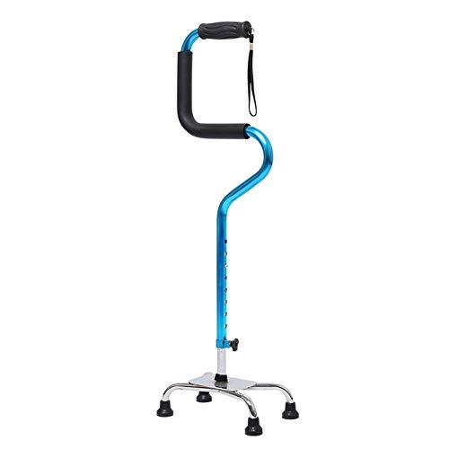 Bastón Para Caminar De Cuatro Patas, 8 Altura Ajustable, Ligero Y Resistente, Bastón Para Caminar, Cómodas Varillas De Agarre, Base Antideslizante Para Personas Con Artritis, Ancianos Y Discapacitados