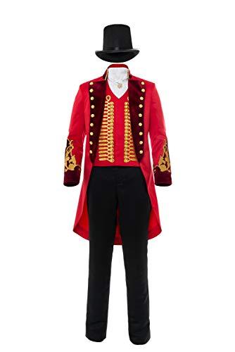 Tollstore The Greatest Showman P.T. Barnum Uniform Cosplay Costume Uomo M