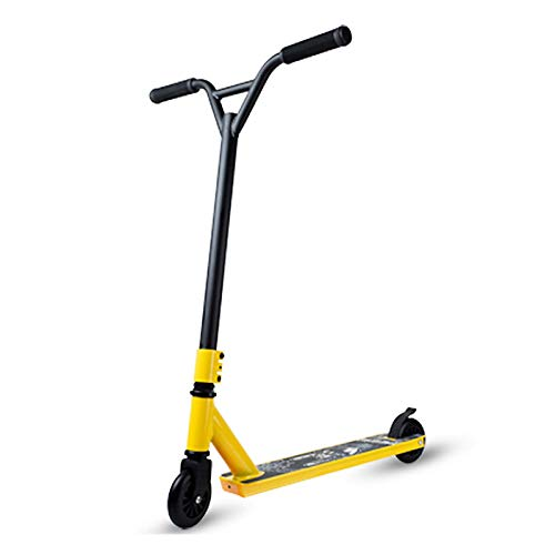 MYAOU Scooter Adulto, Freestyle Pro Scooter Stunt para niños - Puños giratorios Estilo Bicicleta giratorios 360 - Ruedas de aleación de 100 mm
