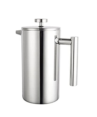 YJSS JXXXJS Pote de café de Acero Inoxidable Filtro de café de Acero Inoxidable Pote Doble Pared y Gran Capacidad Manual contenedor de café (Color : 1000ML)