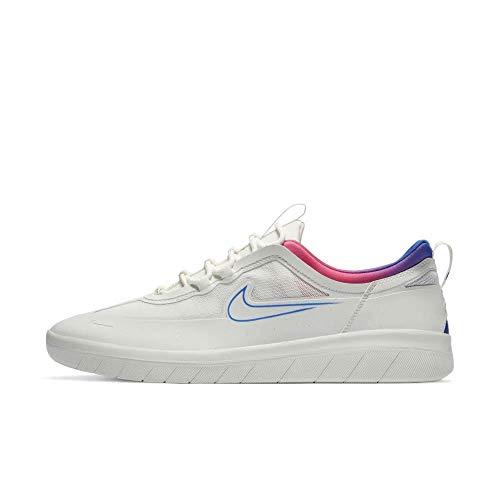 Nike Nyjah Free 2 Sneakers Summit White/Pink Blast/Pink Blast/Racer Blue 12