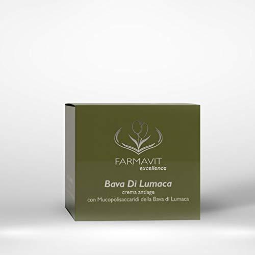 Farmavit - Crema antiarrugas con baba de caracol 50 ml sin siliconas, parabenos o colorantes