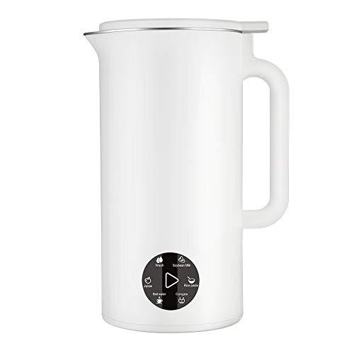 Kacsoo Wielofunkcyjny automat do zupy, 800 ml, 3000 obr./min, ochrona przed pastingiem i spuszczaniem powietrza, inteligentny mini urządzenie do roztworu mleka sojowego, mikser i sokowirówka (biały)