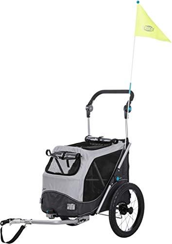 TRIXIE 12794 Fahrrad-Anhänger, Schnell-Falt-Funktion, S