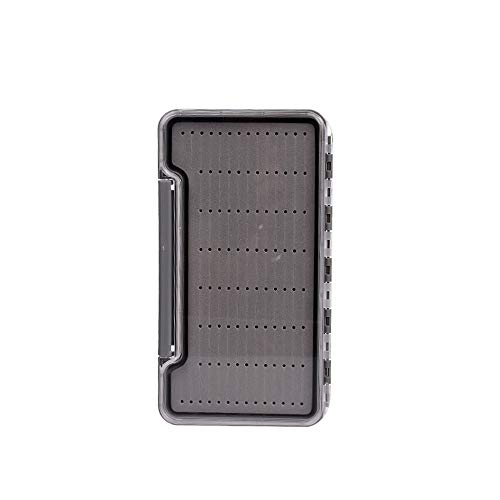 Riverruns 100% Waterproof Fly Fishing Box Easy Grip Foams Multi Magnetic Compartments Tackle Box(Grey-H046LD)