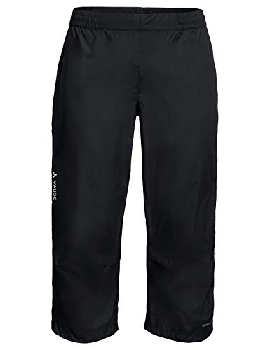 VAUDE Herren Drop 3/4 Pants Regenhose für Radsport, black, 50, 413560105300