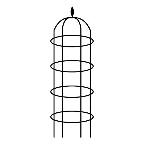 Hemisgin Supporto per Piante Metallo Portafiori Portapiante Torre Interni Esterni Giardino Patio Portapiante Portafiori Bronzo Noble