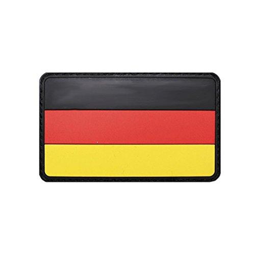 Copytec DEU Patch 3D Rubber Deutschland Germany Bw German Fahne Deutsch Aufnäher Klett Uniform Bundeswehr Schwarz Rot Gold 8x5cm #20847