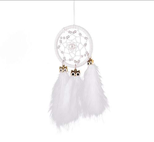 Layyqx Mini dromenvanger auto hanger windspel veer decoratie wooncultuur wandbehang sieraden handgemaakte Dreamcatcher geschenken
