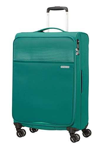 American Tourister Lite Ray Bagagli- Valigia, Spinner M (69 cm - 75 L), Verde (Forest Green)