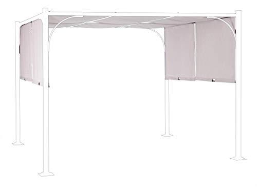 PEGANE Toile pour tonnelle Coloris Gris - Dim : L 300 x P 300 cm