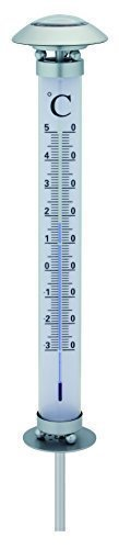 Benelando® LED Edelstahl Solar Thermometer mit extra Heller Leuchtkraft