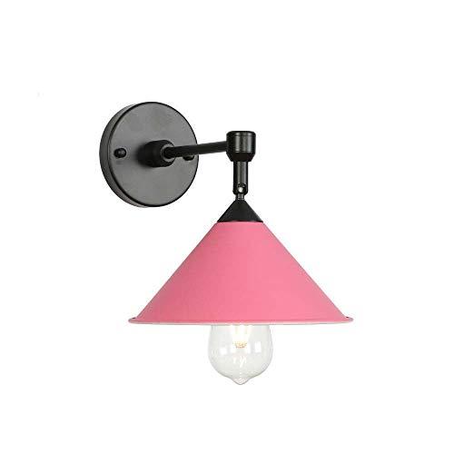 Amkoc Applique Indoor Pink Industrie Applique Moderne 40W Fonction Veilleuse pour salon, chambre à coucher, chambre d'enfant, restaurant, couloir, escalier