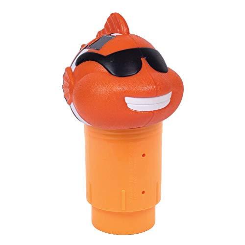 GAME 12439-BB Solar Light Up Clownfish Chlorinator, Orange