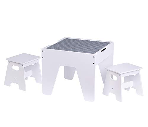 UTEX Kids Construction Play Table with Storage and Built in...