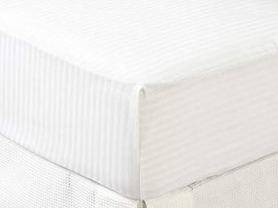 Carrefour Tex - Protector de Colchón de Algodón Cutí Cama 90 cm Blanco