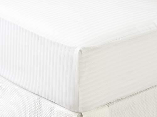 Tex – Proteggi materasso in cotone per letto da 150 cm, colore: bianco