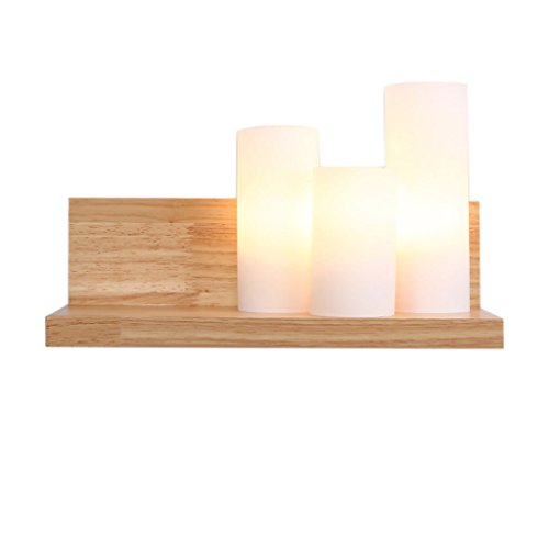 Applique murale QIQIDEDIAN Lampe de Mur en Bois Solide Lampe de Chevet Minimaliste Moderne Lampe de Chevet
