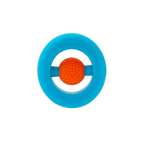 Pocket Sized Hand Fidget or Stimming Toy, Chewable, Non Toxic, Washable, Discreet Handheld Chewing and stimming Aid - (Blue & Orange)