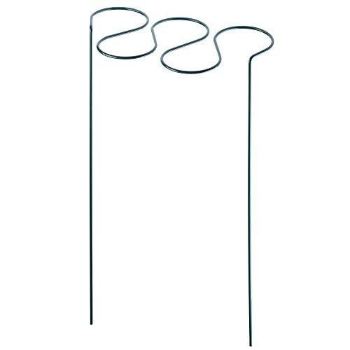 KADAX Pflanzenhalter, Pflanzenstütze, Rankhilfe für Pflanzen, Garten, Balkon, Staudenhalter aus Stahl, Blumenhalter, Blumenstütze, freistehend, wetterfest, Deko, grün