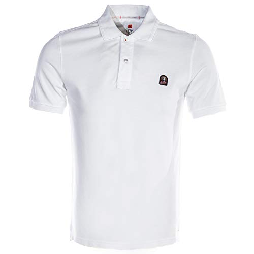 Parajumpers Patch Polo Shirt in White