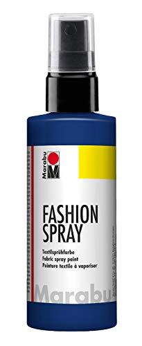 Marabu - Vernice per Stoffa con erogatore Spray, 100 ml, Color Blu Notte