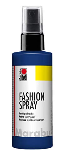 Marabu - Vernice per Stoffa con erogatore Spray, 100 ml, Color Blu Notte