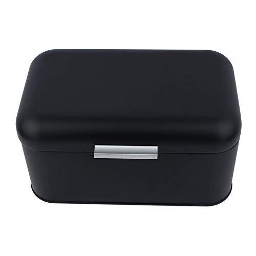 Caixa de armazenamento, caixa de pão, durável para sala de estar Economize espaço para cozinha fácil de limpar(Preto)