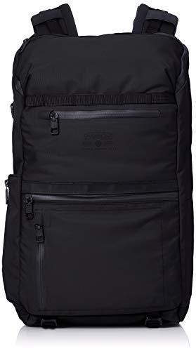 [アッソブ] 防水 リュック バックパック 通学 PC収納 WATER PROOF CORDURA 305D ROUND ZIP BACK PACK BLACK One Size