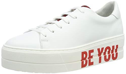Tamaris Damen 1-1-23787-32 Sneaker, Weiß (White/Red 152), 39 EU