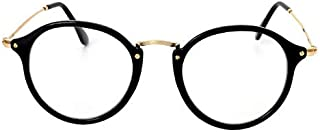 Round Circle Eye Glasses Large Oversized Metal Frame Clear Lens