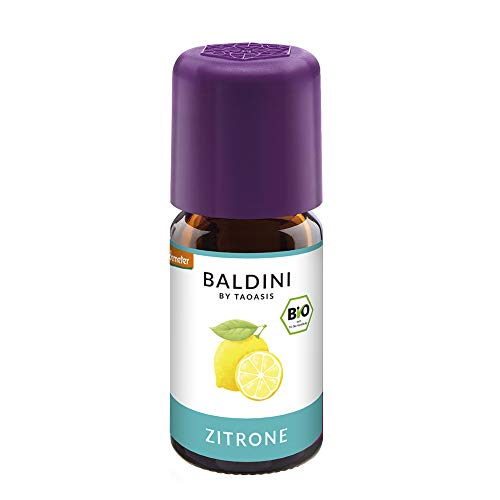 Baldini - Zitronenöl BIO,100{3b9175bb31966ee0229b5dbb3dc80be4ee98ea67bd855655a0f0d1b99d455b18} naturreines ätherisches BIO Zitronen Öl fein, 5 ml