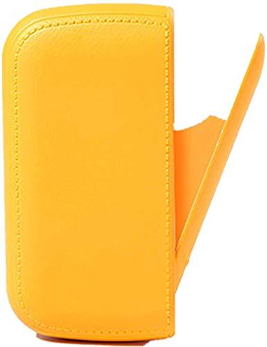 Pitillera con mechero, mechero eléctrico USB, sellado contra la humedad, para 10 cigarrillos normales o 20 cigarrillos finos, color verde y amarillo
