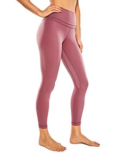 CRZ YOGA Damen Sports Yoga Leggings Sporthose mit Hoher Taille-Nackte Empfindung -63cm Misty Merlot 38