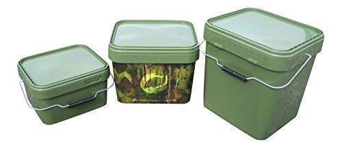 EIMER - SET 5+10+17L Futtereimer Bait Bucket Bivvy Table