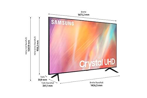 Samsung Crystal UHD 4K TV 75 Zoll (GU75AU7179UXZG), HDR, Q-Symphony, Boundless screen [2021]