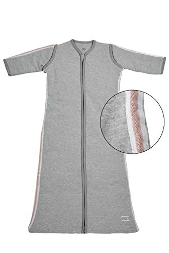 Meyco winter slaapzak 110 cm, grijs met Lurex Biese grijs